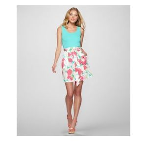 Lilly Pulitzer Avery skirt floral tie waist